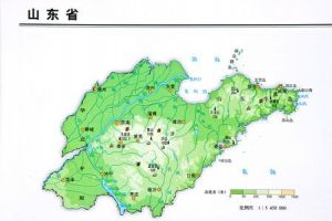 山东省地形图