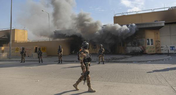 美国驻伊拉克大使馆附近遭两枚火箭弹袭击