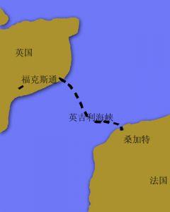 英吉利海峡隧道路线
