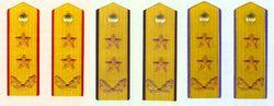 陆、海、空军中将常服肩章(1988~2007)