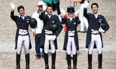 Japan wins Equestrian Dressage Team final at 18th Asian Games