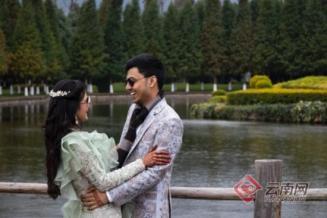 云南民族村开婚礼趴 游客恍惚到了印度