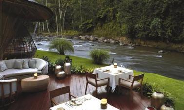 Full dining experience in Bali's Mandapa Ritz-Carlton Reserve