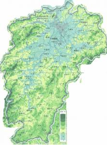 江西地形图