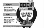 杭州出租车起步价11元或将调高 听证会将于7月3日举行