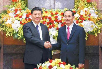 习近平同越南国家主席陈大光举行会谈