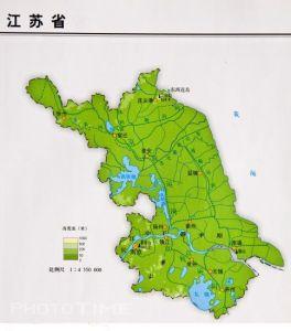 江苏地形图
