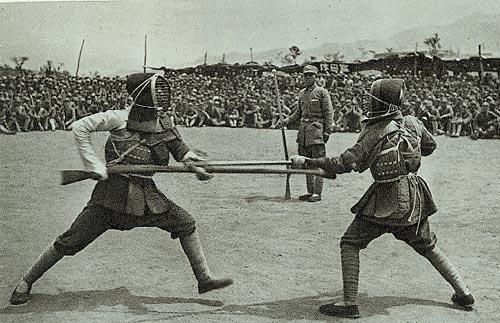 晋察冀部队对刺比赛