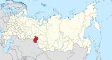 鄂木斯克州在俄罗斯的位置