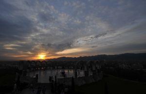 夕阳下的伊斯兰堡