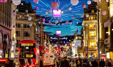 London lights up for the festive season