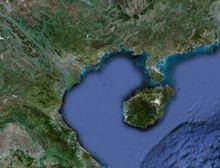 北部湾卫星地图