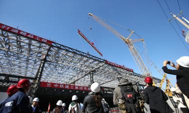 New milestone passed on Beijing-Zhangjiakou high-speed rail construction