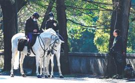 意大利罗马骑警巡逻
