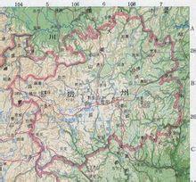 贵州行政区划图