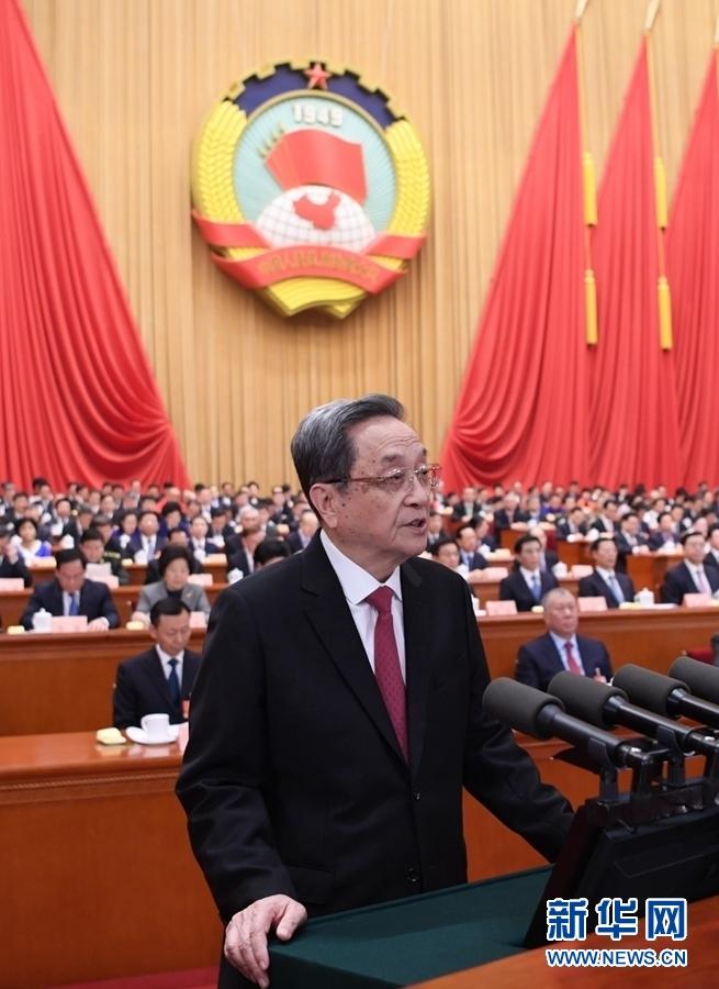 3月3日,中国人民政治协商会议第十三届全国委员会第一次会议在北京人民大会堂开幕。这是十二届全国政协主席俞正声代表政协第十二届全国委员会常务委员会,向大会报告过去五年的工作。