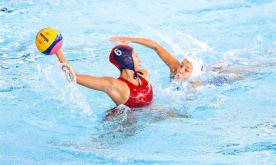 In pics: women's water polo tournament group match at 18th Asian Games
