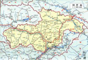 林芝县地图