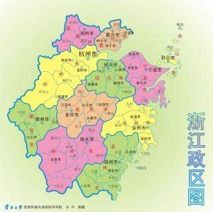 浙江行政区划图