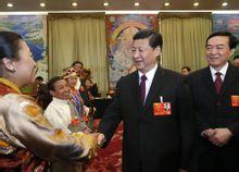 习近平参加西藏代表团审议