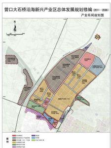 营口大石桥沿海新兴产业区布局规划图