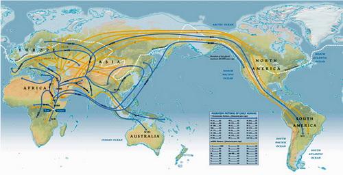 人类迁徙路线
